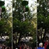 [Watch] Crowd Makes Amazing Catch When Girl Falls From Ride