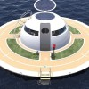 This Floating Off-Grid UFO Home Is Fully Powered By Wind, Water, And Sun