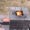How to make a brick rocket stove for around $6