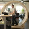 Would You Walk In A Human Hamster Wheel At Your Desk To Stay In Shape?