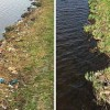 Man Cleans Up Trash From Riverbank On His Way To Work