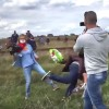 Nationalist TV Crew Caught Attacking Child Refugees, Tripping Man Carrying a Child