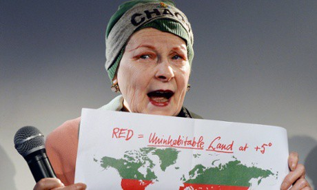 Vivienne Westwood wants Ecocide to be a recognized crime. Credit: EPA/Andy Rain