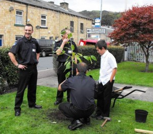 Even local firefighters have become green-fingered