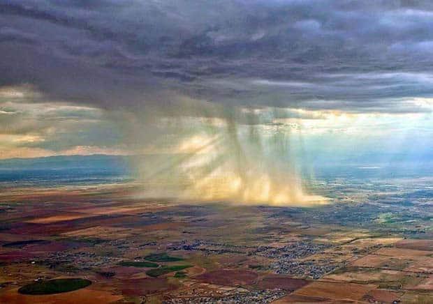 24 - Rains As Seen From An Airplane