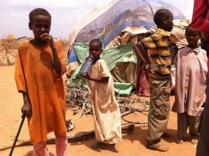 Dadaab, on the Kenya-Somalia border. The Horn of Africa is experiencing the region's worst drought in sixty years and more than 450,000 have trekked for days and weeks across the desert seeking food, water, shelter, and safety in Dabaab. Image Credit: Flickr / Sodexo USA