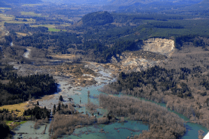 Mudslide in Washington, April 2014, Linked To Logging. Image Credit: Wikipedia
