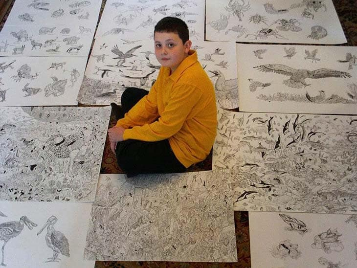 11-Year-Old Child Prodigy Creates Stunningly Detailed Drawings Bursting With Life (13)