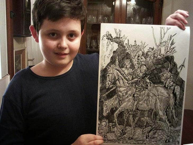 11-Year-Old Child Prodigy Creates Stunningly Detailed Drawings Bursting With Life (3)