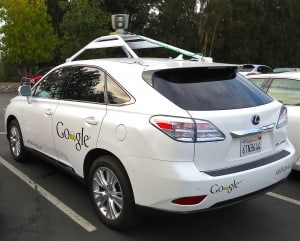 Google's Lexus RX 450h Self-Driving Car. Image Credit: Wikimedia