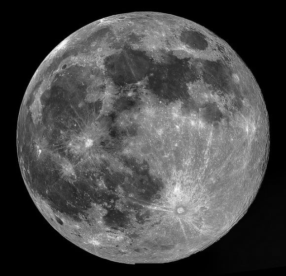 Perigee Full Moon mosaic from August 10, 2014 (a first attempt at a mosaic!) Credit and copyright: Mary Spicer.
