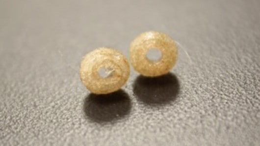 Fusing 3D-printed beads.