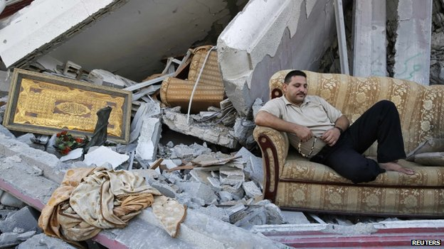 Palestinians in Gaza City are using the temporary ceasefire to visit what is left of their neighborhoods.