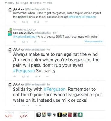 gaza-ferguson twitter