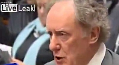 Journalist Forces Banker To Answer A Simple Question: Watch Him Squirm!