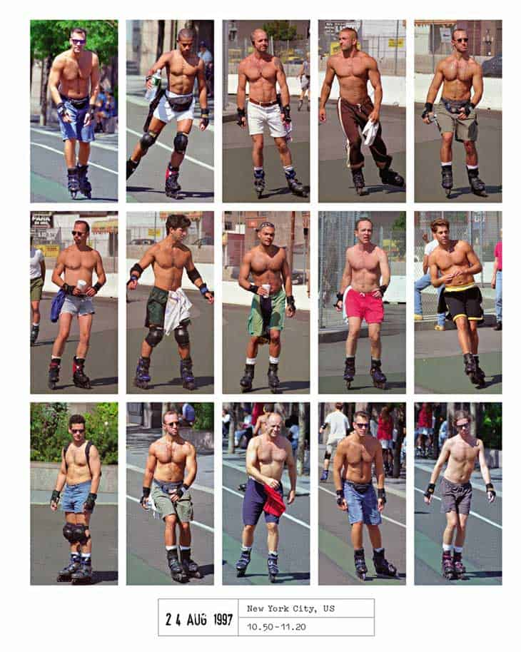 Meanwhile in NYC in 1997, everyone was topless and on skates
