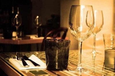 Table Restaurant Furniture Glass Wine Drink