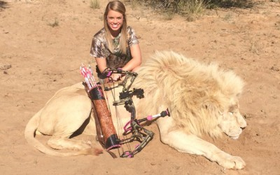 Kendall Jones, a teen trophy hunter from Texas. Credit: Huffington Post