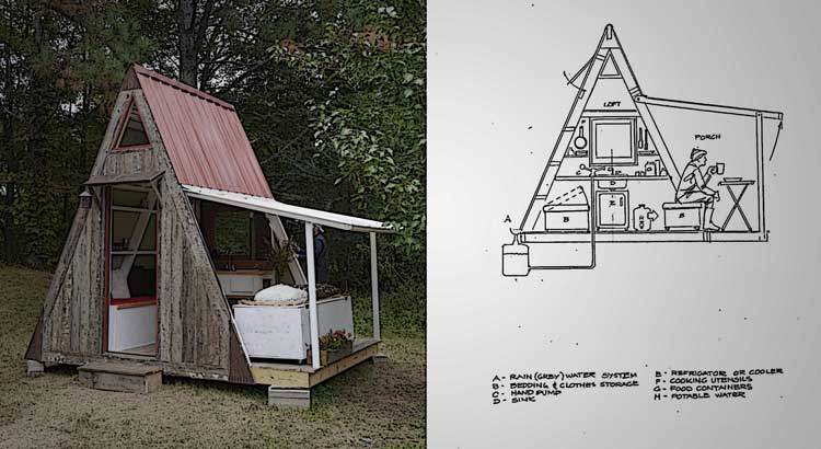 This incredible diy tiny home only costs 1 200 to build for Diy home building cost