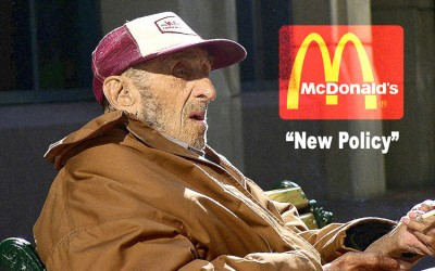 """McDonald's """"New Policy"""" Bans Customers From Buying Food For Homeless"""