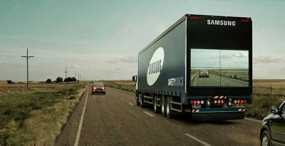 Samsung 'Safety Truck' Allows Drivers To Pass With Caution