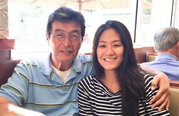 Diana and her father in 2015. Credit: Diana Kim