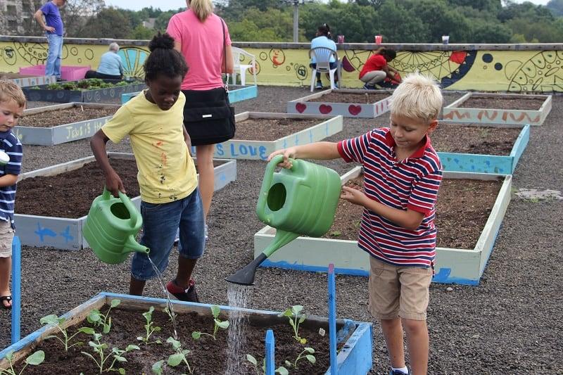 children-homeless-garden