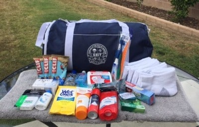 The kits provide homeless veterans with everyday items