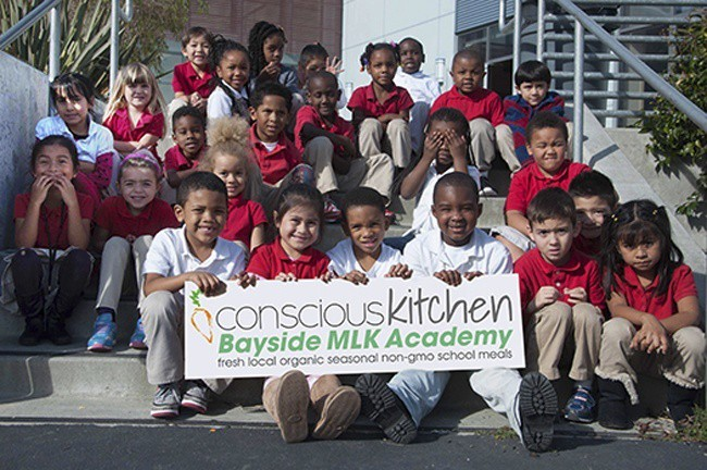 Students from Bayside MLK Academy in Marin City, California.  (Credit: Turning Green)