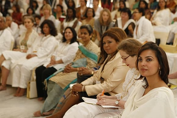 An international Art of Living conference. Credit: rediff.com
