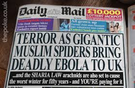 "And a hilarious fake Daily Mail front page is so close to the Sunday Sport's ""exclusive"", it makes you wonder who is parodying who..."
