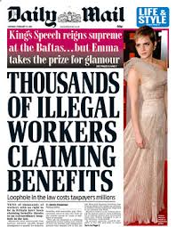 A real Daily Mail headline encourages racism against immigrants
