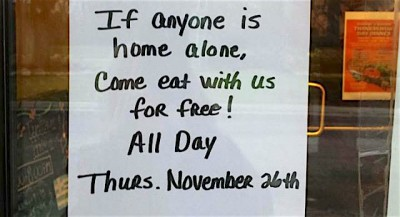 This Restaurant Is Offering Free Meals To Anyone Eating Alone On Thanksgiving