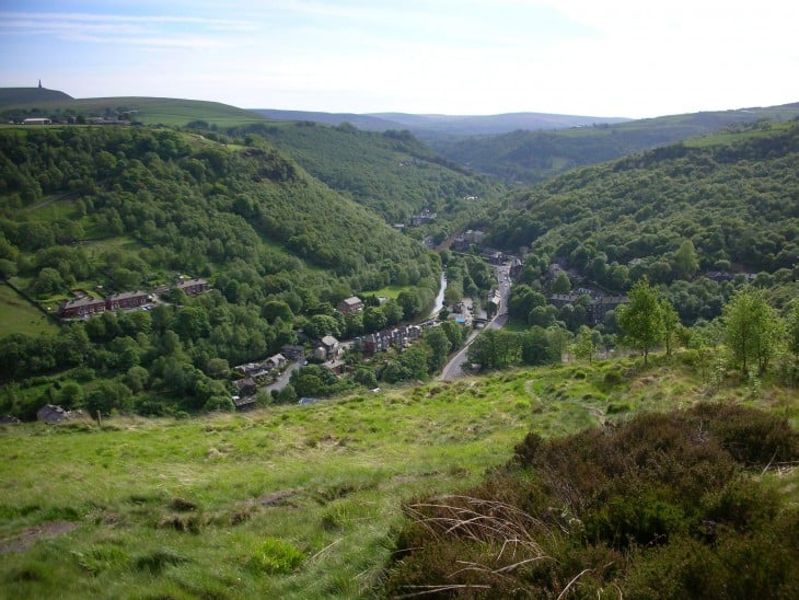 The Calder Valley, West Yorkshire. Climate change has made this beautiful area prone to dangerous winter flooding