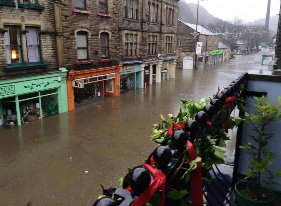 Hebden Bridge resident Lisa Sciobtha posted this image of the town on Facebook on Boxing Day morning.