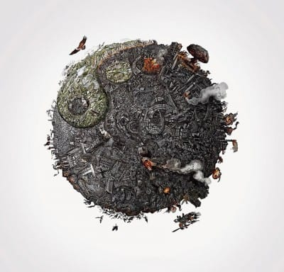 Incredibly Detailed Drawings Show the Ugly Truth of What We've Done to Mother Earth