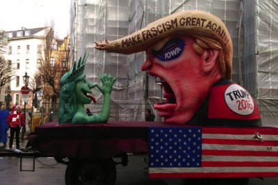 """German Carnival Mocks Trump With """"Make Fascism Great Again"""" Float, And They're Not Far Off"""