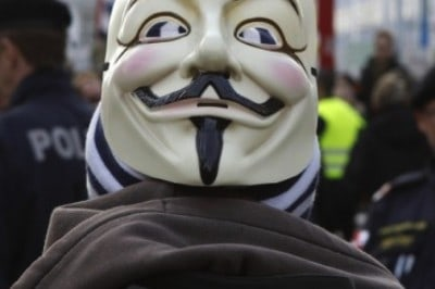 Man Arrested For Wearing Anonymous Mask At Protest For Arizona Election Fraud