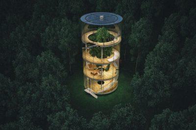 Kazakh Architect Is Set To Build This Tubular Glass House Around A Tree [Photos]