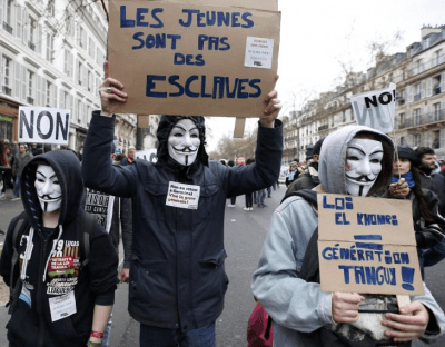 France In Turmoil As Workers Protest New Labor Laws