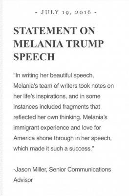 Credit: Melania Trump