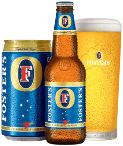 The calories in Foster's is 145 and there are 11 grams of carbohydrates in  this beer with a low level of alcohol. Here's some more motivation to drink  in ...