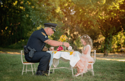 2-Year-Old Throws Tea Party For The Cop Who Saved Her Life