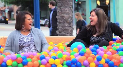 Ball Pit On Street Inspires Strangers To Make New Friends [Watch]