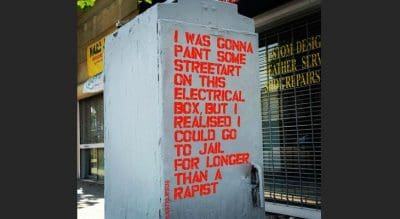 Street Artist Unveils New Project To Protest Brock Turner's Release