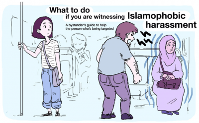 Illustration Perfectly Explains How To React When You Witness Islamophobia