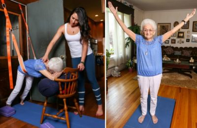 86-Year-Old Heals From Scoliosis And Transforms Her Body With Yoga [Watch]