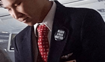This Flight Attendant Is Under Fire For Promoting Black Lives Matter