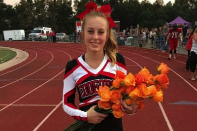 High School Football Team Shows Admirable Support For Cheerleader Diagnosed With Leukemia