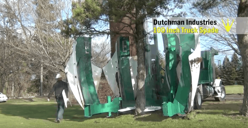Credit: Dutchman Curved Loader Mount Tree Spade